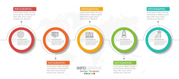 Infographic elements with icon and option.