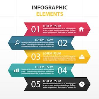 カラフルな抽象的な三角形ビジネスインフォグラフィックテンプレート