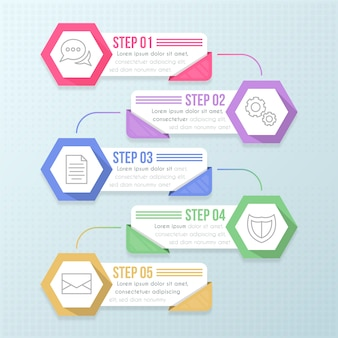 Infographic flat design steps