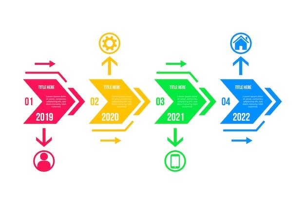 Infographic flat design timeline