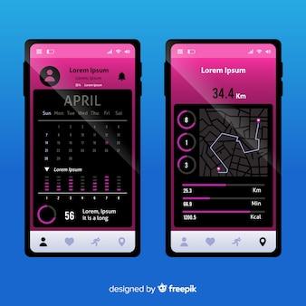 モバイル実行アプリのインフォグラフィック