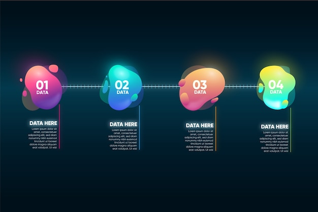 Infographic gradient abstract shape