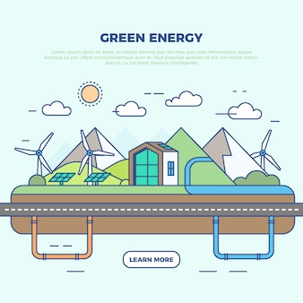 Infographic green energy illustration