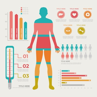 Infographic healthcare medical