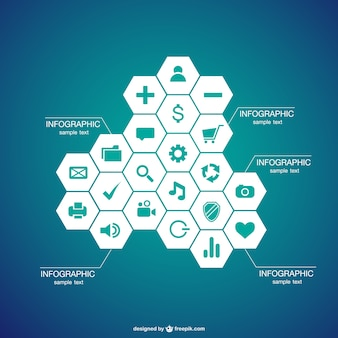 Infographic honeycomb design