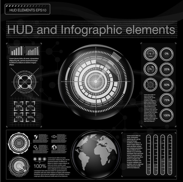 Infographic hud outer space.