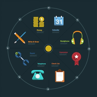 Infographic and icon element business connect lifestyle for  layout or graph chart