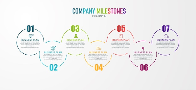 Инфографическая иллюстрация может использоваться для процесса, презентаций, макета, баннера, информационного графика. есть 7 шагов или слоев.