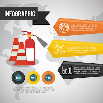 Infographic industrial security design