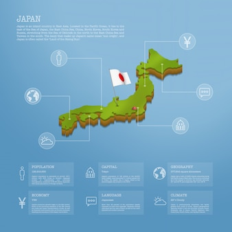 Infographic of japan map
