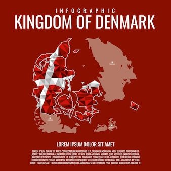 Infographic kingdom of denmark