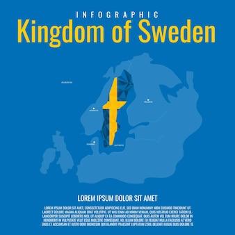 Infographic kingdom of sweden