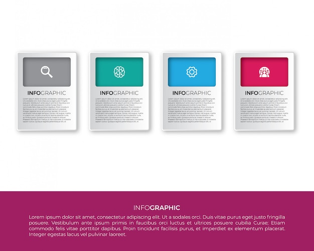 Infographic label design with icons