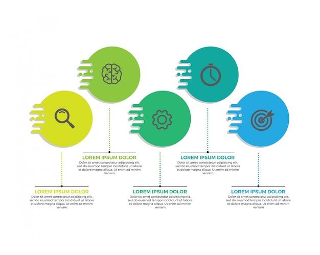 Infographic label design