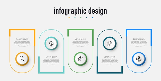 Infographic label template business concept