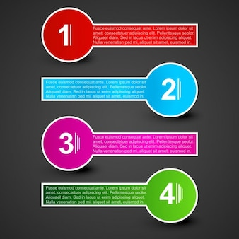 Infographic labels