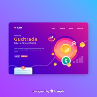 Infographic Landing Page Template