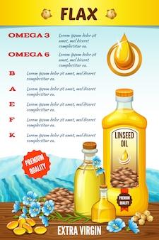 Инфографики льняное масло, польза льна.