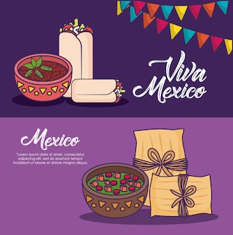 Infographic of mexican food concept