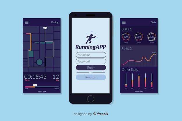 Infographic for mobile running app