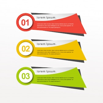 Infographic modern colorful banners
