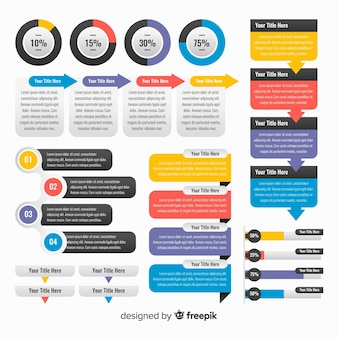 Infographic modern elements collection