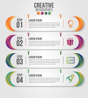 Infographic modern timeline design vector template for business with steps or options
