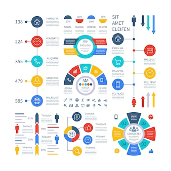 Infographic. multipurpose financial chart marketing graph, process table, corporate timeline step flowchart.