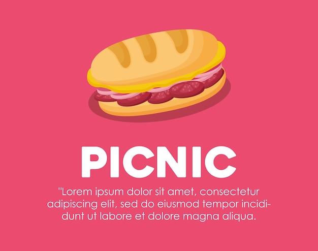 ピクニック・フード・コンセプトのインフォグラフィック