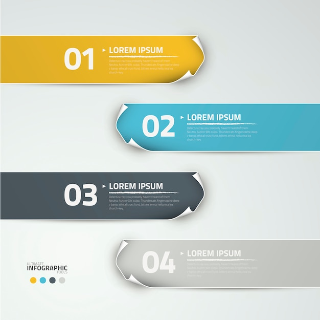 Infographic options vector