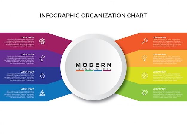Infographic organization chart