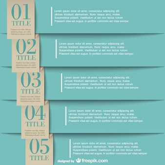 Infographic paper labels design