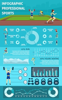 Infographic people sport