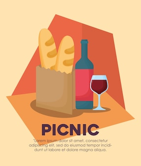 Infographic of picnic food concept