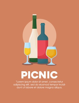 Infographic of picnic food design