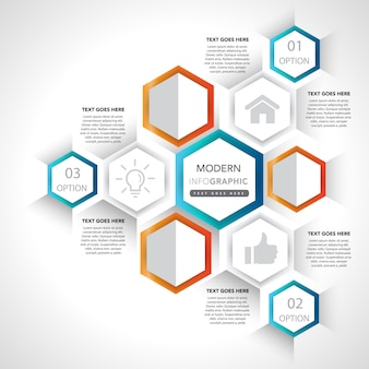 Infographic presentation elements and icons