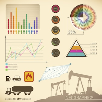 Infographic presentation oil template