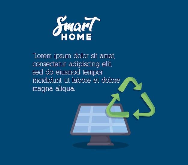 Infographic presentation of smart home design