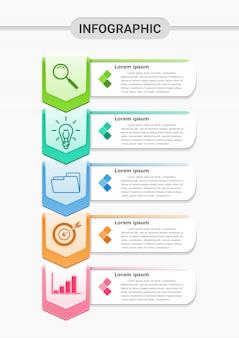 Инфографическая презентация с четырьмя шагами