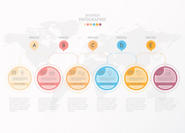 Infographic process and icons.