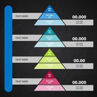 Infographic 피라미드 템플릿 컬렉션