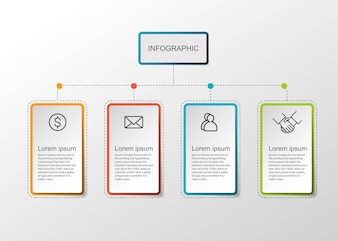 Infographic rectangle presentation.