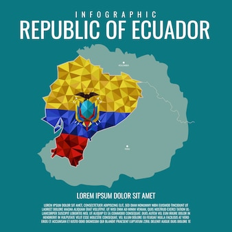 Infographic republic of ecuador