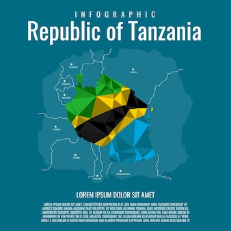 Infographic republic of tanzania