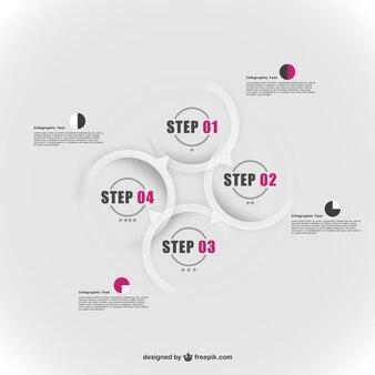 Infographic round elements design