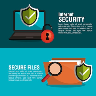 Infographic security checkmark