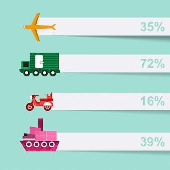 Infographic  set of logistic information