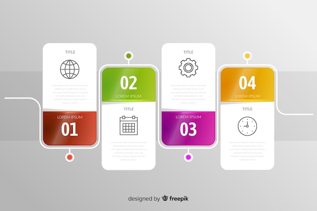 Infographic set of steps phases template