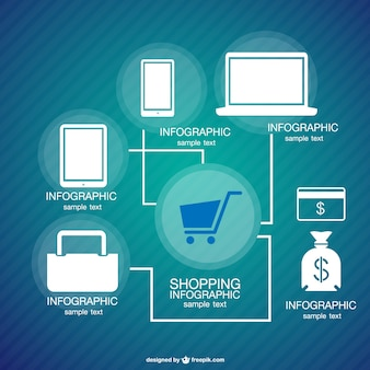 Infographic shopping concept