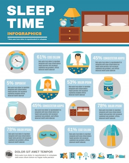 Infographic sleep time